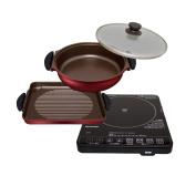 IRIS OHYAMA hot plate IH type yakiniku plate and pot IHC-T51S-B