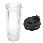Nutri Ninja 950ml Cup & Lid Replacement Set - Large Accessory Part Compatible with Auto IQ and Duo Blenders