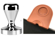 Espresso Coffee Tamper Stainless Steel 51mm + Coffee Tamper Mat