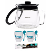 Bonavita BV61500CAD Glass 5-Cup Double Walled Coffee Carafe + Free Knox Milk Frother and Mug and Spoon Set