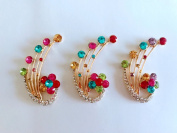 New style of fashion alloy crystal rhinestone applique colourful crystals 50 x28mm to wear shoes phone case 2 pcs / lot