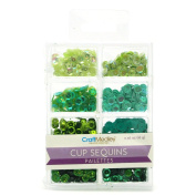 Homeford Loose Cup Sequins Palettes, Green, 6mm, 16-gramme