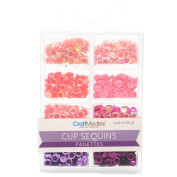 Homeford Loose Cup Sequins Palettes, Princess, 6mm, 16-gramme
