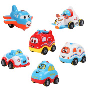 Samidy Baby Infant Inertial Toy Car 6 in a Pack for 0-2Years kids