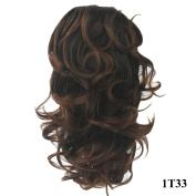 PrettyWit 60cm Pony Tail Ponytail Hair Extensions Hairpiece Wig Long Messy Curls Wavy Clip In/On Claw