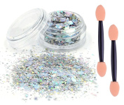 eBuy silver chunky glitter cosmetic glitter festival glitter sparkle face body hair nails make up*beauty