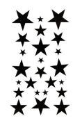 Body painting tattoo stickers Watertight temporary tattoo black star