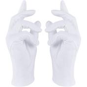 Rovtop 8 Pairs 22cm White Cotton Gloves,White Cotton Gloves for Moisturising