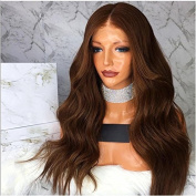 Kerrywigs Full Lace Human Hair Wigs #4 Colour Loose Wavy For Black Women Body Wave Lace Front Wigs Baby Hair 180 Density Glueless-70cm lace front wig