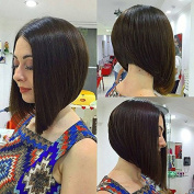 Kerrywigs Bob Cut Layered Lace Front Human Hair Wigs For Black Women 130 Density Glueless Short Full Lace Wigs Pre Plucked Baby Hair-20cm full lace wig