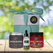 My-Organic-Zone Skin-Care-Gift-Package, Includes 3-Organic-Products for Deep-Pore-Cleansing, Exfoliating, Moisturising, Skin-Soothing, Acne-Treatment, Reduce-Cellulite