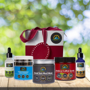My-Organic-Zone Deluxe-Skin-Care-Gift-Package, Has 5-Organic-Products for Deep-Pore-Cleansing, Exfoliating, Skin-Tightening, Moisturising, Anti-Ageing, Anti-Wrinkle, Acne-Treatment, Reduce-Cellulite