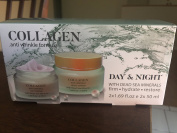 Set Collagen ( anti wrinkle formula ) Day / Night with dead sea minerals / firm hydrate and restore. Crema anti arrugas noche y dia .