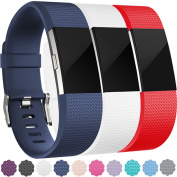 For Fitbit Charge 2 Bands, Wepro Replacement Strap Wristbands for Fitbit Charge2, Buckle, Large, Small, 10 different colours