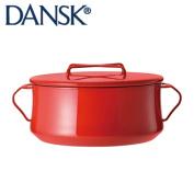 DANSK dance matrimony vine Ben-style enamel pan both hands hot pot 18cm 1.9l Chile red 834300 JAN