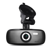 Dash Cam+32GB SD Card,C'est Brushed Metal Casing Exquisite Fashion Design Car Cam Night Vision Motion Detection F2.0 Large Aperture Full HD 1080P 140° Wide Angle LCD Camera Recorder with G-Sensor