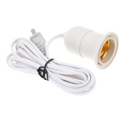 Meiyiu Two-phase Plug Multi-direction E27 Plug-in Spot Lamp Light Bulb Holder on/off Switch