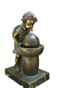 Hi-Line Gift Ltd Girl Drinking Water Fountain - Bronze Finish