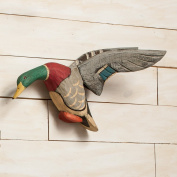 Flying Mallard Decoy Woodcarving Wall Hanging
