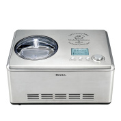 Ariete – DeLonghi Stainless Steel Ice Cream Maker with Built-in Compressor, LCD Digital Display, 2l