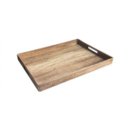 American Atelier Poplar Finish Serving Tray with Handles, Brown