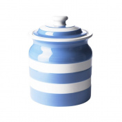 Cornishware Plain Storage Jar with Lid, 3-1/2-Cup