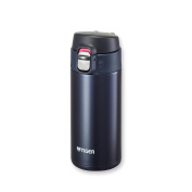 Tiger MMJ-A036 KA Vacuum Insulated Stainless Steel Travel Mug with Flip Open Lid, Double Wall, 350ml, Blue Black