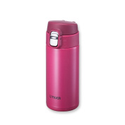 Tiger MMJ-A036 PA Vacuum Insulated Stainless Steel Travel Mug with Flip Open Lid, Double Wall, 350ml, Pink
