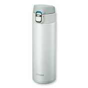 Tiger MMJ-A048 WW Vacuum Insulated Stainless Steel Travel Mug with Flip Open Lid, Double Wall, 470ml, White
