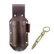Tagvo Beer Holster, Leather Classic Beer Holster Bottle Holders - Bullet Bottle Opener Included