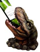 Atlantic Collectibles Prehistoric Dinosaur T-Rex Head 27cm Tall Wine Bottle Holder Caddy Figurine