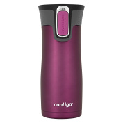 Contigo AUTOSEAL West Loop Vacuum Insulated Stainless Steel Travel Mug with Easy-Clean Lid, 470ml, Radiant Orchid Trans Matte
