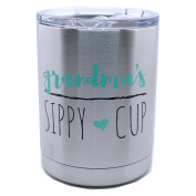 Grandma's Sippy Cup 300ml Stainless Steel Lowball - Proudly Screen Printed in the USA - Double Wall Vaccum Insulated