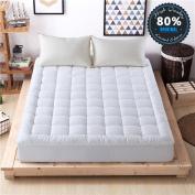 Mattress Pad Cover Down Alternative Mattress Topper Hotel Luxury Collection 300 Thread 100% Cotton