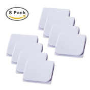 Shower Curtain Splash Guard Clip Self Adhesive Curtain Clips - White,Pack of 8