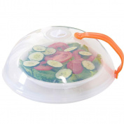 Microwave Plate Cover, Transer Anti-Sputtering Microwave Splatter Cover Lid with Steam Vents - Safe & BPA Free - 26cm