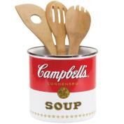 Campbell's Soup Kitchen Utensil Holder Dishwasher Safe Fused Enamel Graphics
