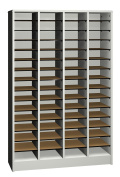 Ironwood Literature Organiser with 60 Compartment, Grey
