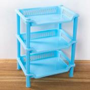 Mikey Store Bathroom Shelf , 3 Tier Plastic Corner Organiser Kitchen Storage Rack Holder