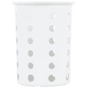 Steril-Sil Silverware Cylinder, White - RP-25-WHITE