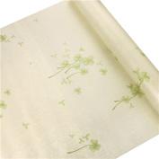 HOYOYO 43cm x 200cm Self-Adhesive Contact Papper, PVC Moisture Proof Drawer Paper Shelf Liner Mildew Proof Antifouling Wall Sticket, Beige Clover