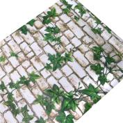 HOYOYO 43cm x 200cm Self-Adhesive Contact Paper, PVC Moisture Proof Drawer Paper Shelf Liner Mildew Proof Antifouling Wall Sticker, Grape Leaf