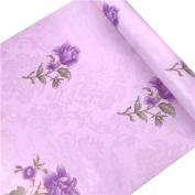 HOYOYO 43cm x 200cm Self-Adhesive Shelf Liner, Moisture Proof Drawer Paper Shelf Liner Mildew Proof Antifouling Contact Paper, Pink Beautiful Lotus