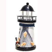 Lighthouse Candlestick Decor,SMYTShop Natical Marine Model SMYTShop Holder Mediterranean Style Lighthouse Nautical Fish Net Shell Buoy Decor
