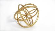 Large Gold Sphere with Inner Flower Petal Design