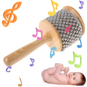 Kocome Wood Wooden Cabasa Percussion Musical Instrument Children Kid Teaching Toy Gift