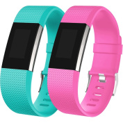 Fitbit Charge 2 Replacement Bands, 10 Classic Colours, Small Large