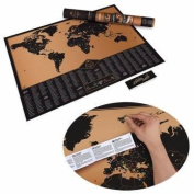 Expeditionary Creative Scratch World Map Scatcher Map Cylinder Packing Home Decor Gift
