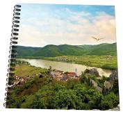 3dRose db_135439_2 Austria, Durnstein, Wachau Valley, Danube River Eu03 Mgl0043 Miva Stock Memory Book, 30cm x 30cm