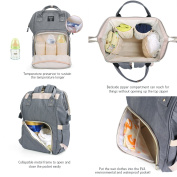 Pomelo Best Baby Nappy Backpack with Nappy Changing Mat Grey